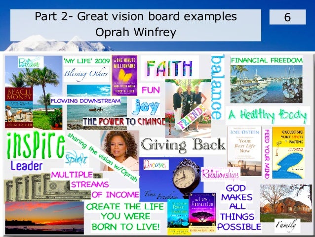 develop your vision board, Powerpoint templates