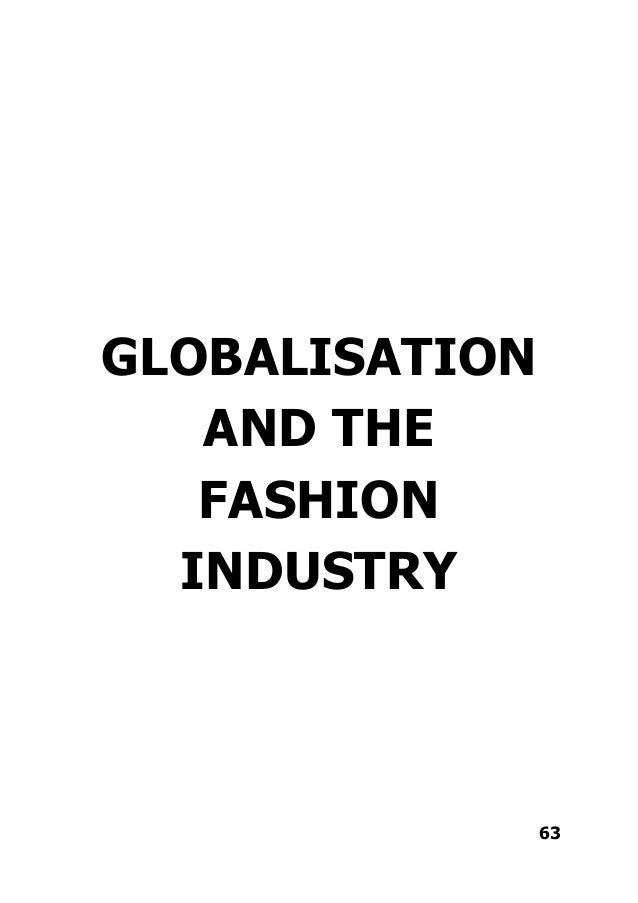 Globalisation Links To Fashion Industry