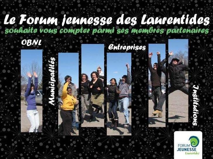 Devenez membre du Forum jeunesse des Laurentides