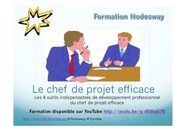Le chef de projet efficace Les 4 outils indispensables de développement professionnel du chef de projet efficace Formation...