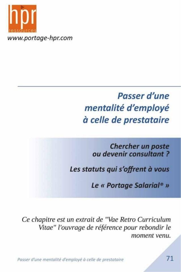 du PEPS et du CINOV*. * PEPS Professionnels de l'Emploi en Portage Salarial * CINOV Fédération des métiers de la prestatio...