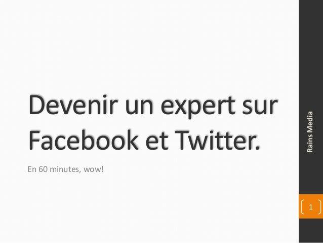 Devenir un expert sur Facebook et Twitter. En 60 minutes, wow! RainsMedia 1