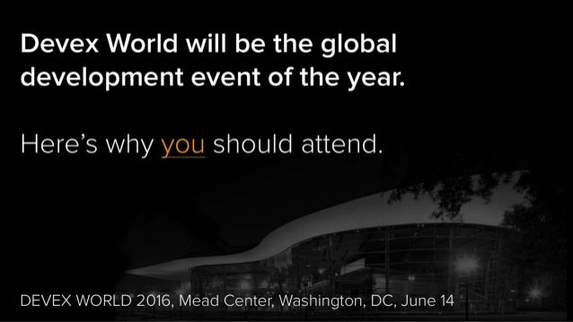 5 reasons you should attend Devex World