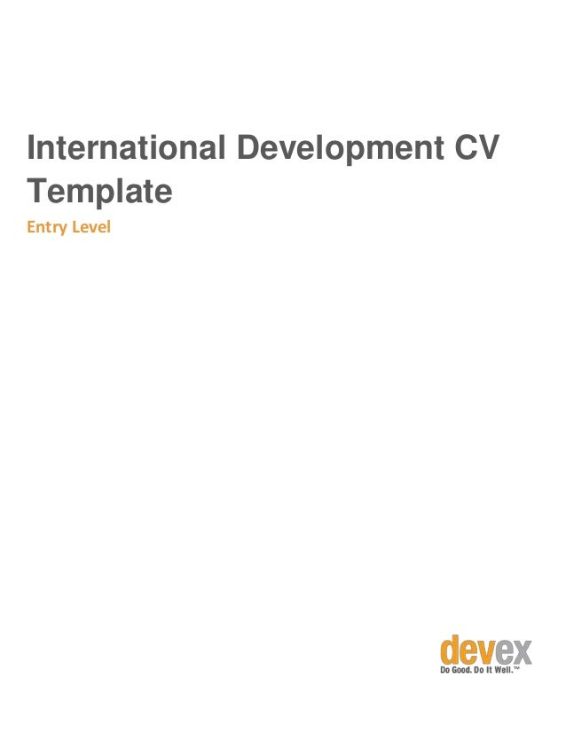 resume for abroad format