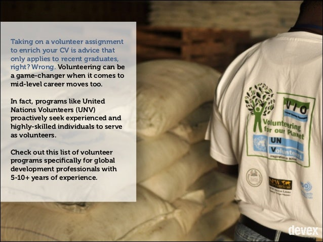 10 Volunteer Programs for Mid-Level Global Development Professionals Slide 2