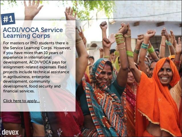 10 Volunteer Programs for Mid-Level Global Development Professionals Slide 3
