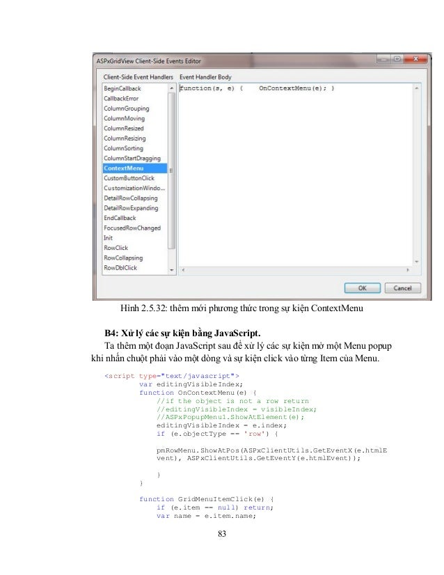 Devexpress cho asp net