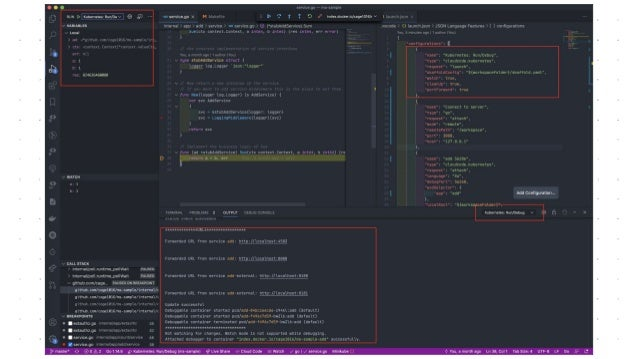 Dev fest 2020 taiwan   how to debug microservices on kubernetes as a pros (https://youtu.be/eseo0hcRaQI?t=11008)