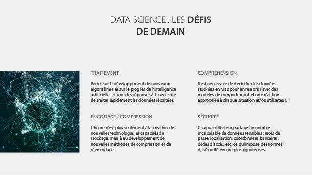 DATA SCIENCE : LES DÉFIS DE DEMAIN TRAITEMENT Parier sur le développement de nouveaux algorithmes et sur le progrès de l'i...