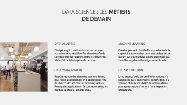 DATA SCIENCE : LES MÉTIERS DE DEMAIN DATA ANALYSIS Discipline qui consiste à inspecter, nettoyer, transformer et modéliser...