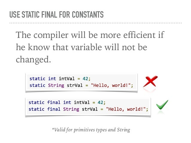 USE FOR-EACH LOOP SYNTAX Use the for-each loop by default, but consider a hand-written counted loop for performance-critic...