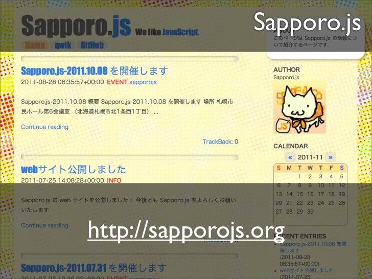 Social Coding                       DevFestX Sapporo 2012                                Sapporo.js2012.02.11             ...