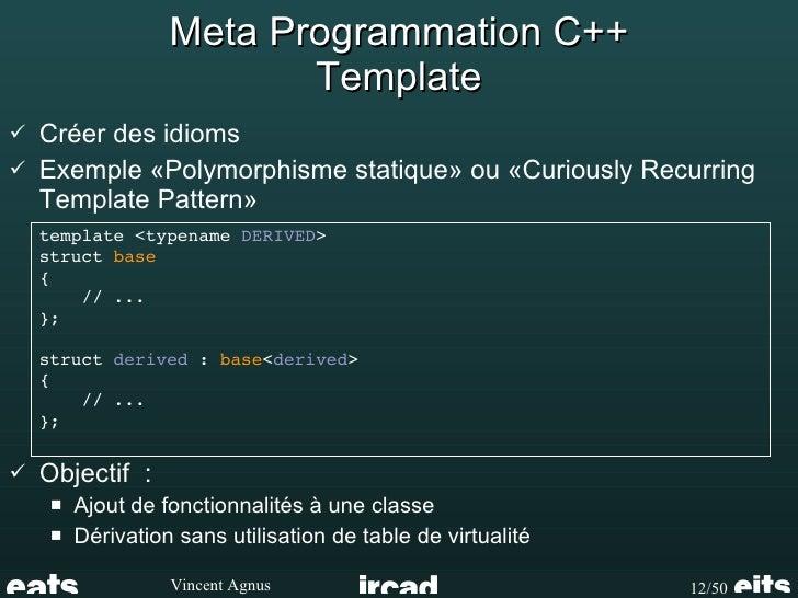 C metaprogramming multidimensional typelist 12 meta programmation c template curiously recurring template pattern polymorphisme maxwellsz