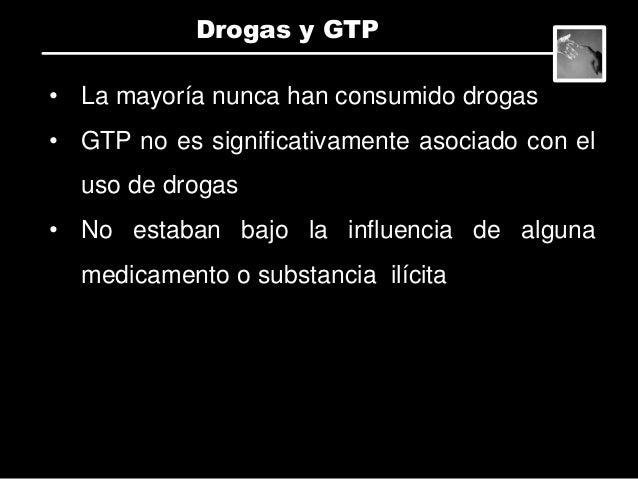 • No hay diferencias en termino de genero. • Aquellos entre 33-38 años fueron menos susceptibles al GTP. • 18-21 años mas ...