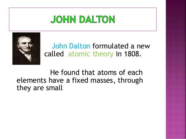 Periodic table facts john dalton formulated urtaz Gallery