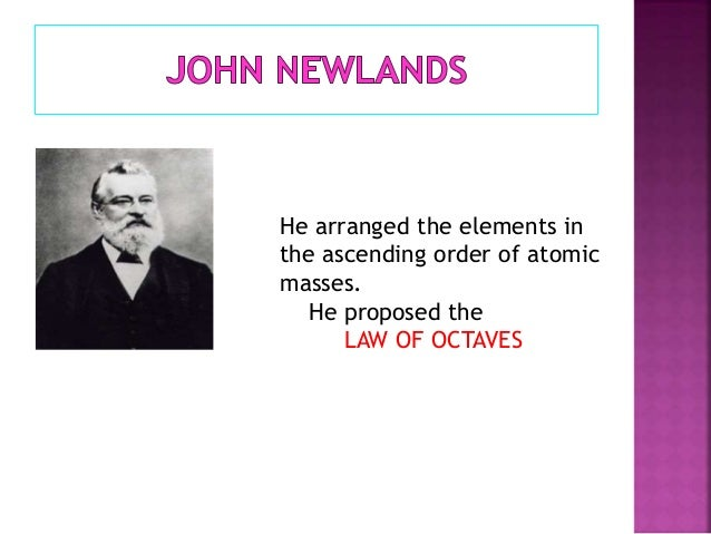 Periodic table facts he proposed the law of octaves 6 urtaz Images