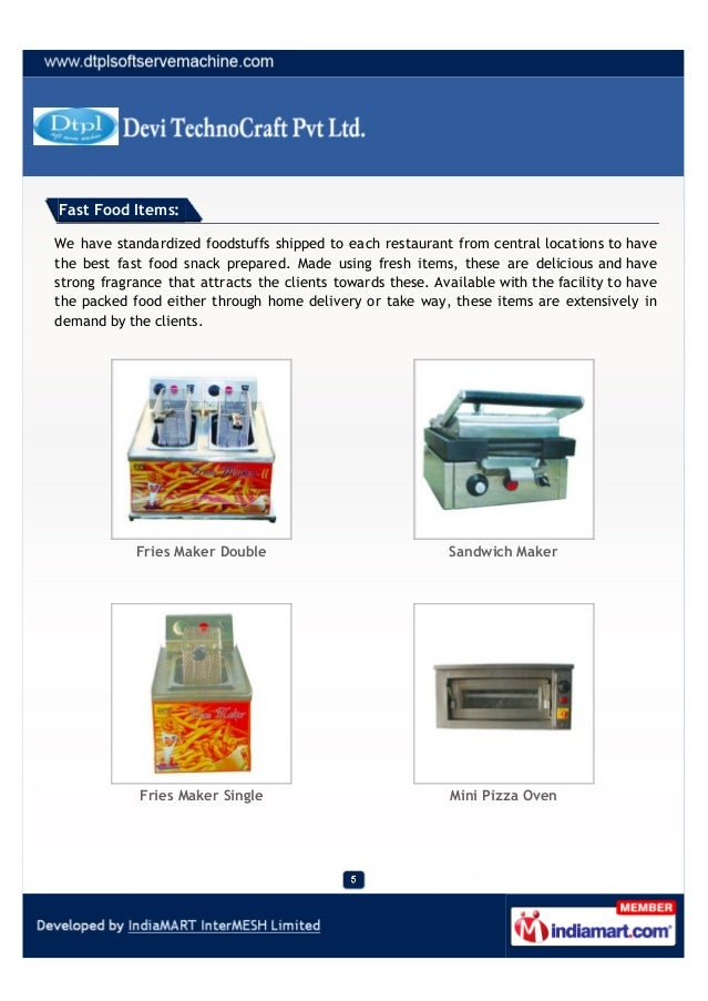 Devi Technocraft Pvt Ltd Ahmedabad Ice Cream Machines