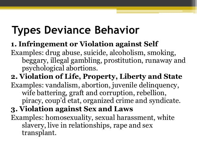 examples of deviance in everyday life