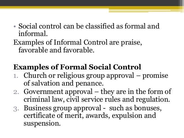 informal social control examples