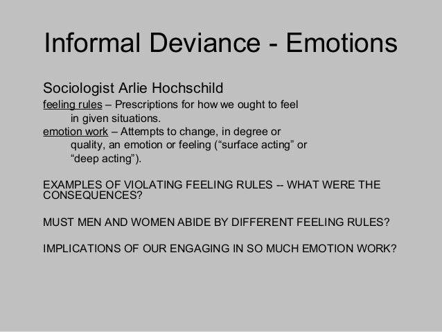 Types Of Deviant Sexual Behavior