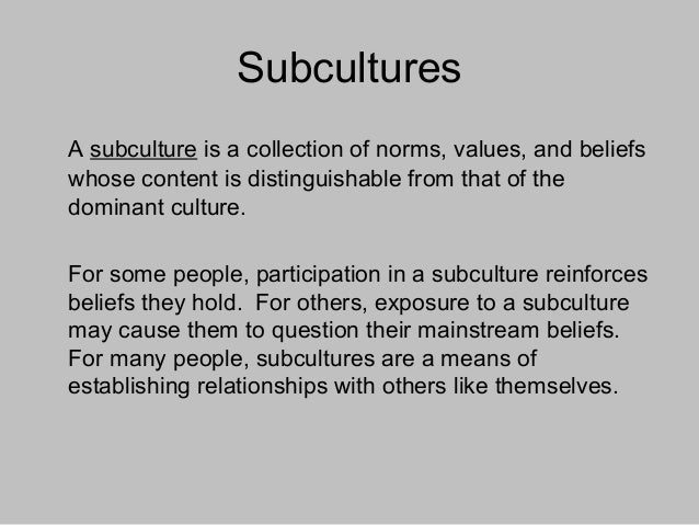An example of a subculture.