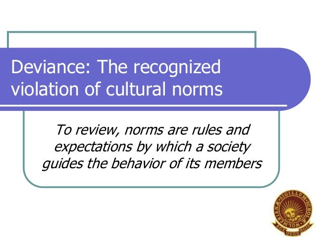 deviance on television essay The study of social deviance is the study of the violation of cultural norms in either formal (criminal) or informal (deviant) contexts social deviance is a phenomenon that has existed in all societies where there have been norms there are two possibilities for how an individual will act in the.