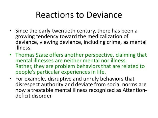 the relationship beween social power and deviance Confederates engaged in a variety of behaviors that violated social norms perceived personal implication was consistently the best predictor of social control behavior, such that the more someone felt that a deviant behavior affected him or her personally, the more he or she was likely to communicate his.