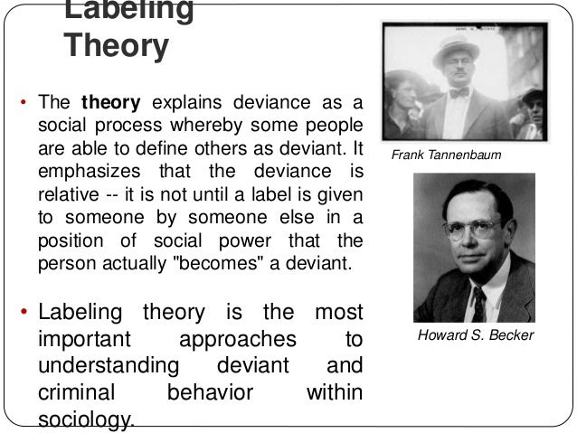 labelling theory in explaining crime and