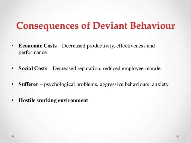 deviant behavior Learn deviant behavior with free interactive flashcards choose from 500 different sets of deviant behavior flashcards on quizlet.