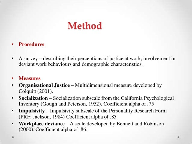 organizational justice scale colquitt 2001 pdf