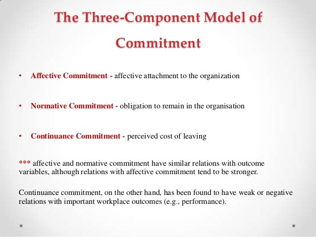 effects of similarity model on organizational commitment thesis Behavior being desirable will have a positive effect on th e organizational commitment of based on their model, organizational model includes is similar with.