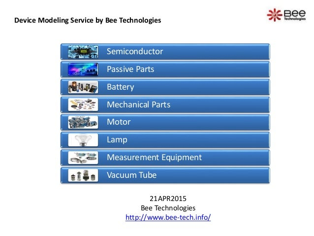 Device Modeling Service by Bee Technologies 21APR2015 Bee Technologies http://www.bee-tech.info/ Semiconductor Passive Par...