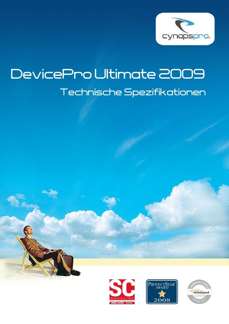 DevicePro Ultimate 2009          Technische Spezifikationen  .