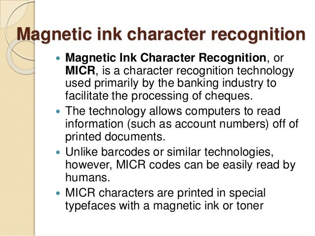 magnetic ink character recognition - photo #44