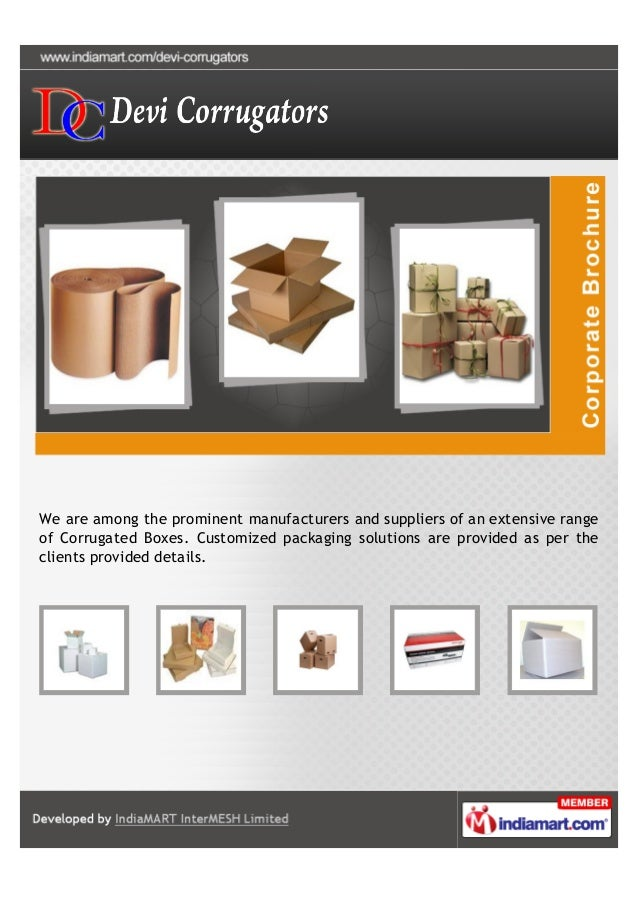 We are among the prominent manufacturers and suppliers of an extensive rangeof Corrugated Boxes. Customized packaging solu...