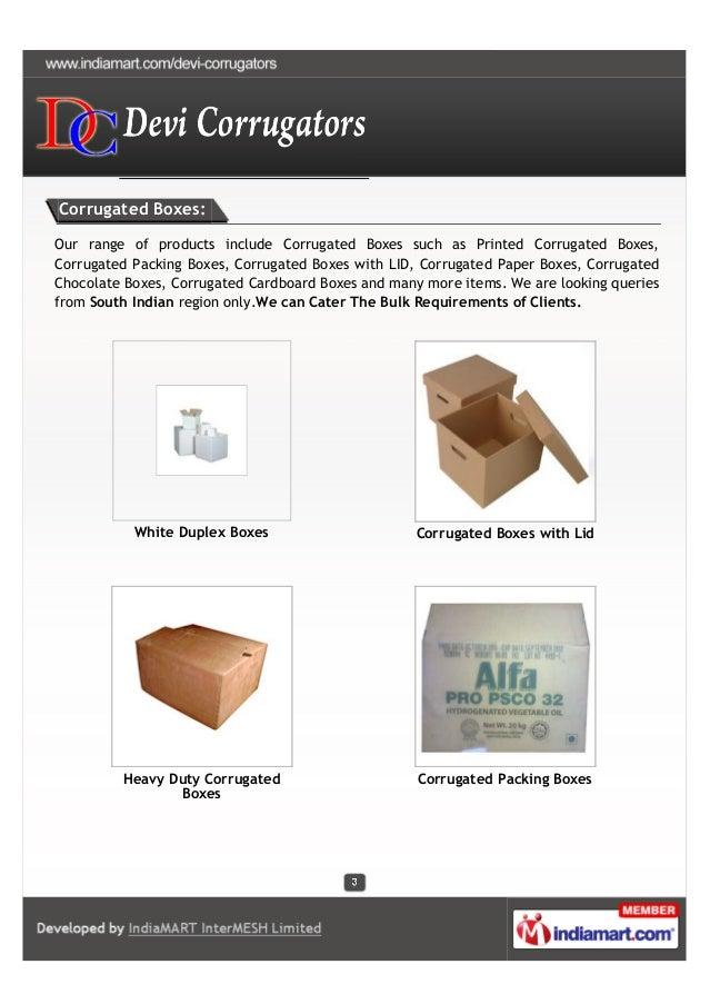Devi Corrugators, Hyderabad, Corrugated Packing Boxes Slide 3