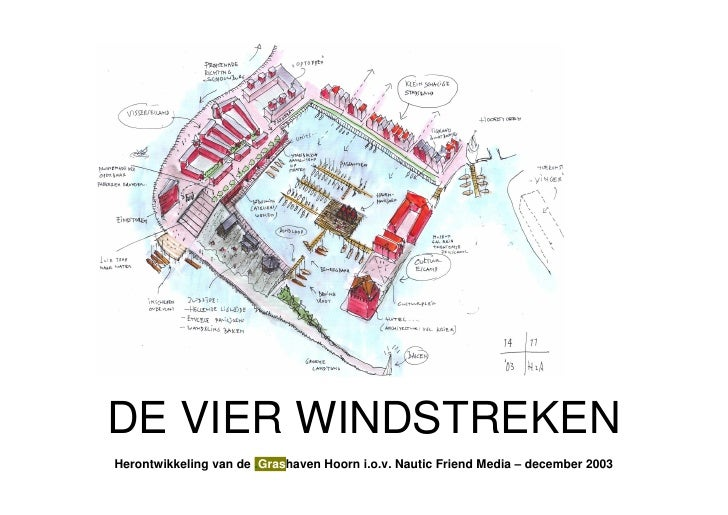DE VIER WINDSTREKENHerontwikkeling van de .Grashaven Hoorn i.o.v. Nautic Friend Media – december 2003