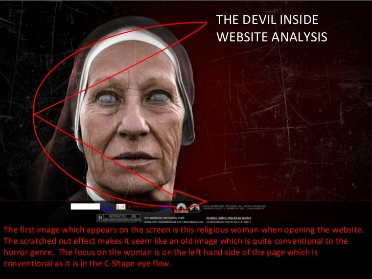 THE DEVIL INSIDE                                                      WEBSITE ANALYSISThe first image which appears on the...