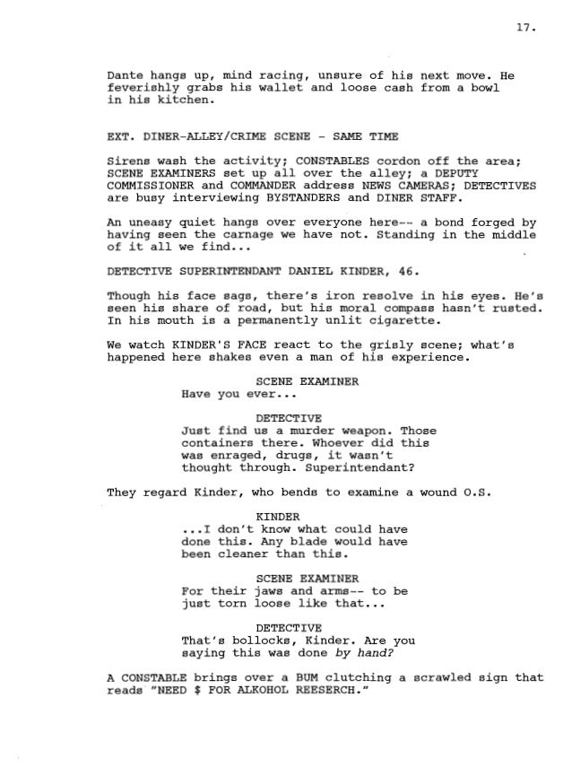 Horror movie scripts