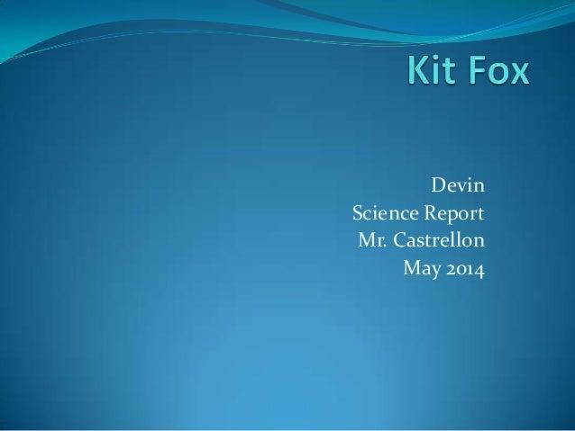 Devin Science Report Mr. Castrellon May 2014