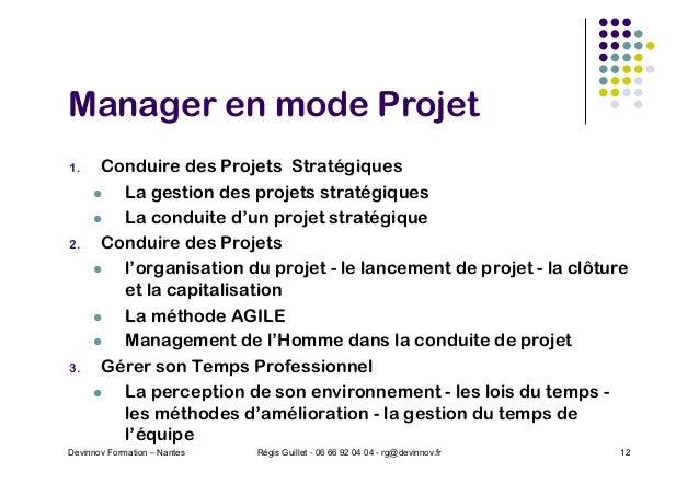 Manager en mode Projet 1. Conduire des Projets Stratégiques l La gestion des projets stratégiques l La conduite d'un proje...