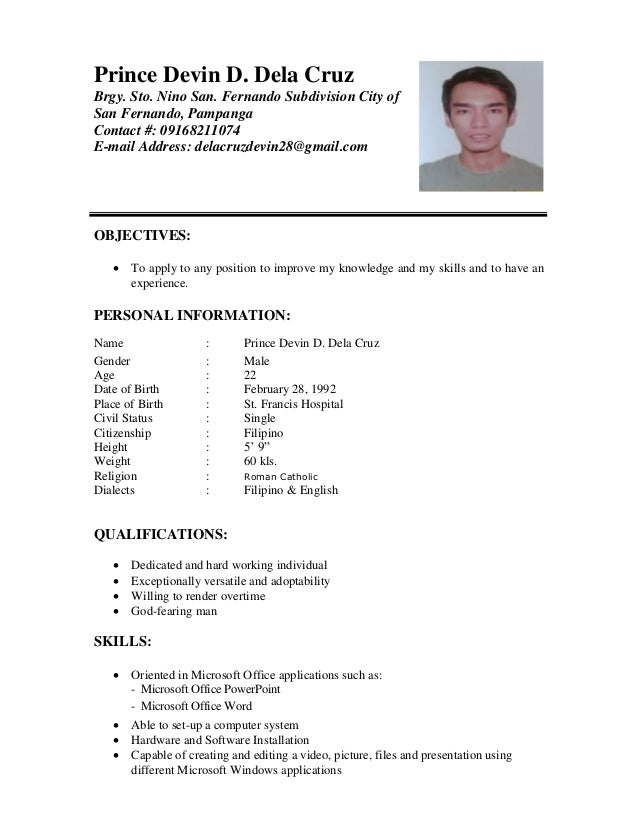 Character Reference In Resume Format | Resume Format