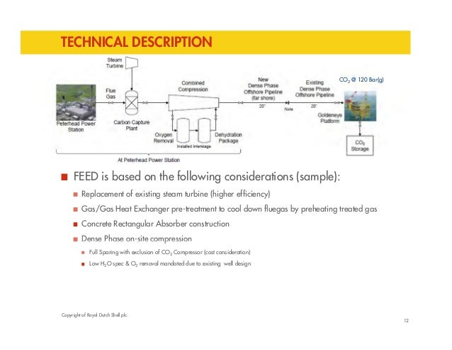 TECHNICAL DESCRIPTION  CO2 @ 120 Bar(g)  FEED is based on the following considerations (sample):  Replacement of existing ...