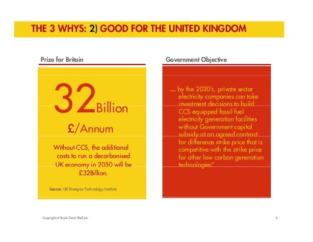 THE 3 WHYS: 2) GOOD FOR THE UNITED KINGDOM  Prize for Britain Government Objective  32Billi  ... by the 2020's, private se...