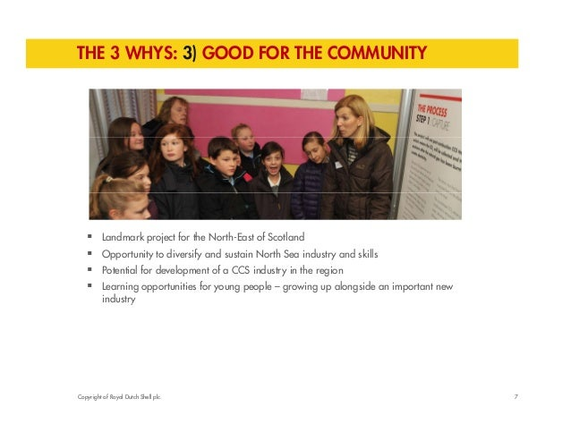 THE 3 WHYS: 3) GOOD FOR THE COMMUNITY   Landmark project for the North-East of Scotland   Opportunity to diversify and s...
