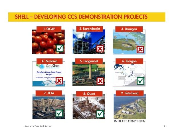SHELL – DEVELOPING CCS DEMONSTRATION PROJECTS  1O. OCACPAP 2. Barendrecht 3. Draugen     4 ZeroGen  5   6   4. 5. Long...