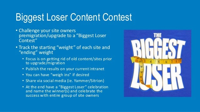 biggest loser office weight loss challenge