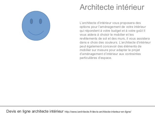 Devis architecte interieur en ligne for Architecte interieur tarif