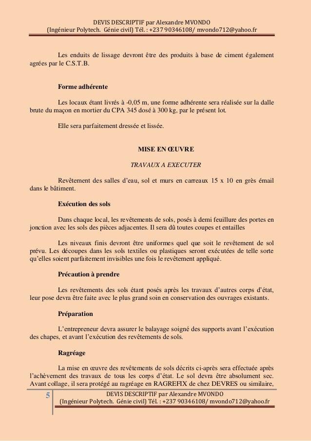 Descriptif Travaux Maison Beautiful Descriptif Travaux With - Devis descriptif d une maison