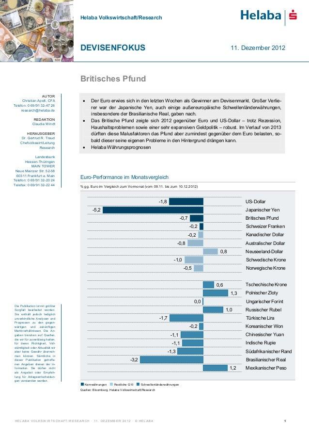Helaba Volkswirtschaft/Research                                                  DEVISENFOKUS                             ...